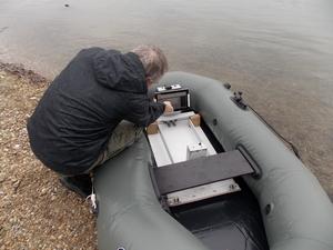 GPR cart in a boat
