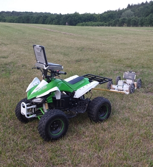 Cart towed by ATV