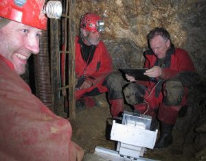 GPR Roteg in a cave