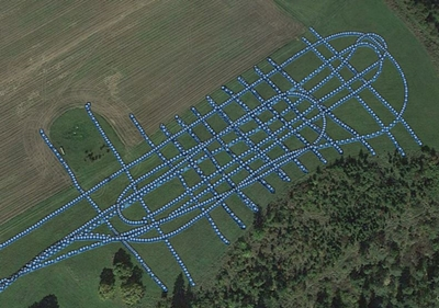 GPS coordinates collected during the GPR measurement